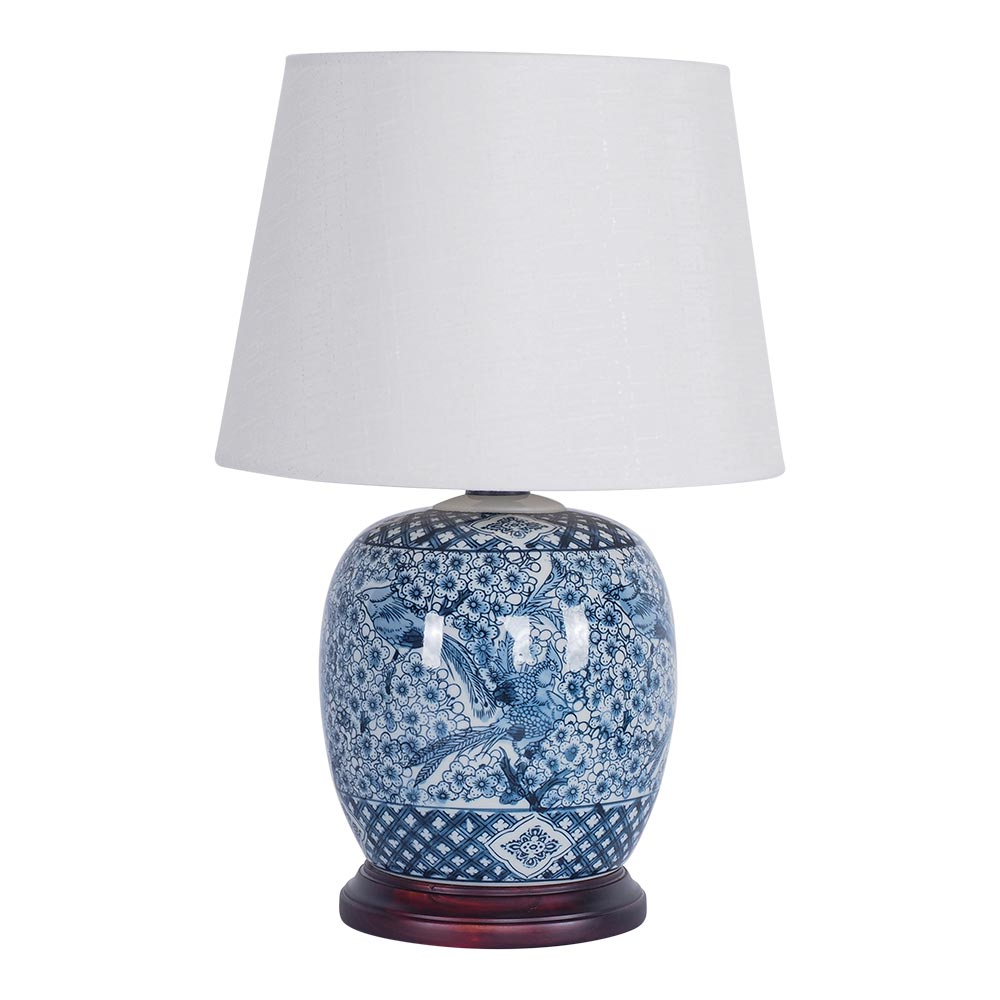 Serenity Ceramic Jar Table Lamp 50cm by Early Settler, a Table & Bedside Lamps for sale on Style Sourcebook