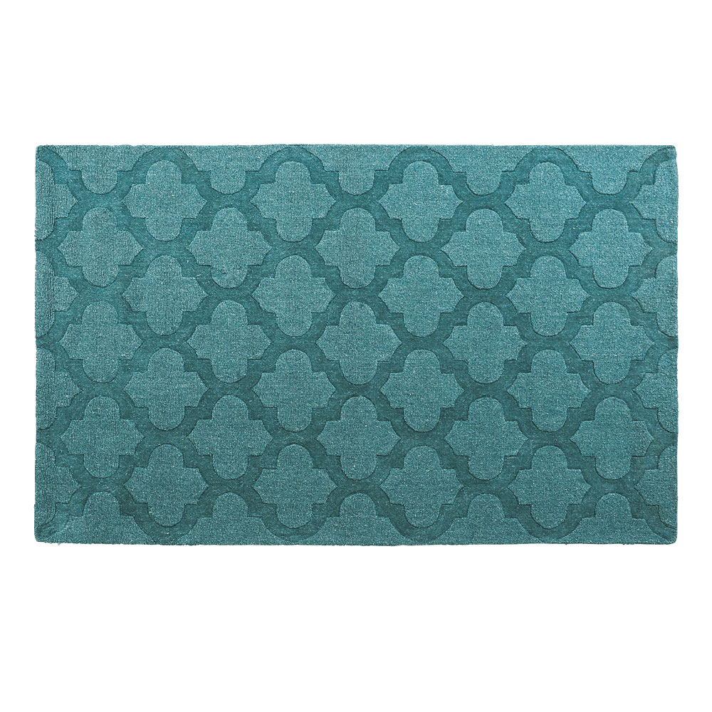 Marrakesh Peacock Hand Tufted Teal Rug 150 x 240 cm by Early Settler, a Contemporary Rugs for sale on Style Sourcebook