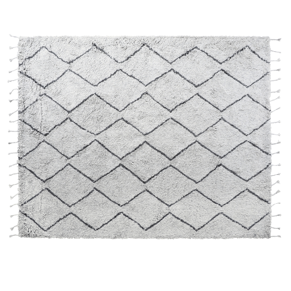 Marrakesh Trellis Polyester Black & White Wool Rug 240 x 300 cm by Early Settler, a Contemporary Rugs for sale on Style Sourcebook