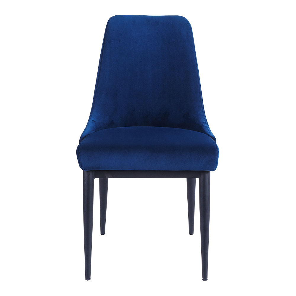 Maxine Side Chair Dark Blue Velvet by Early Settler, a Dining Chairs for sale on Style Sourcebook