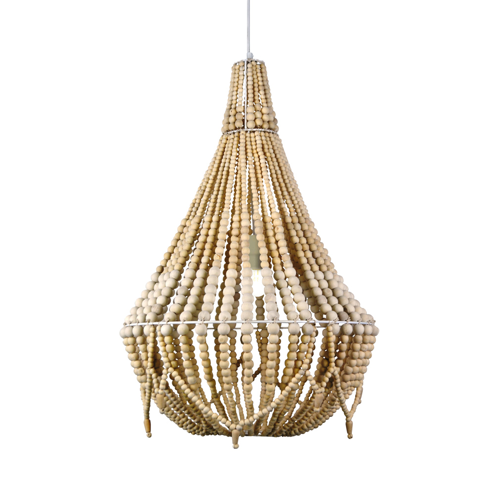 Negril Beaded Chandelier Natural 67cm by Early Settler, a Chandeliers for sale on Style Sourcebook