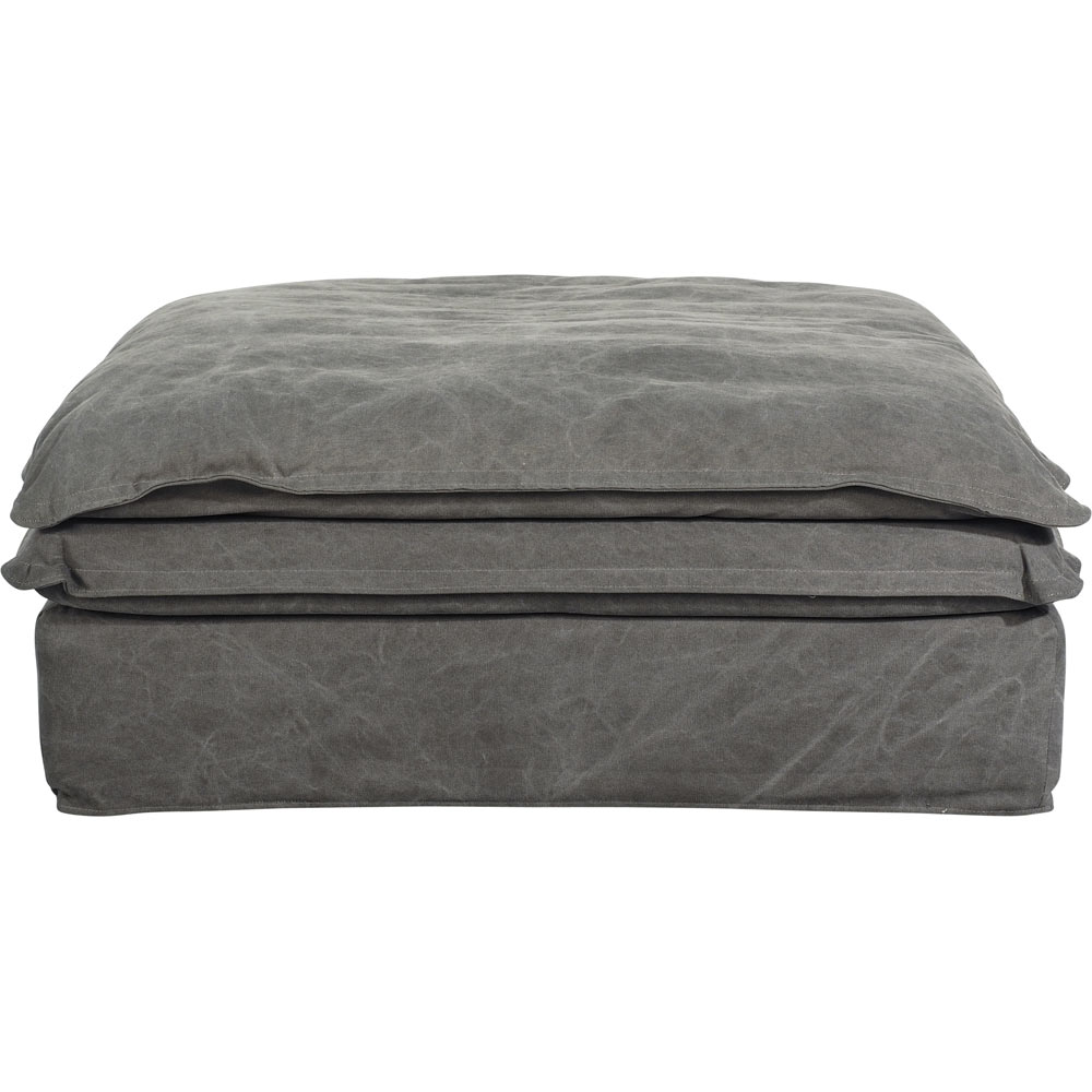 Slouch Ottoman Vintage Grey Cotton by Early Settler, a Ottomans for sale on Style Sourcebook