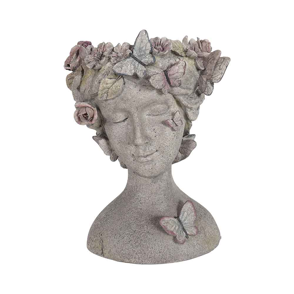 De Plein Outdoor Resin Butterfly Head Flowerpot, Grey, 34.9x31.4x44.5c by Early Settler, a Statues & Lawn Ornaments for sale on Style Sourcebook