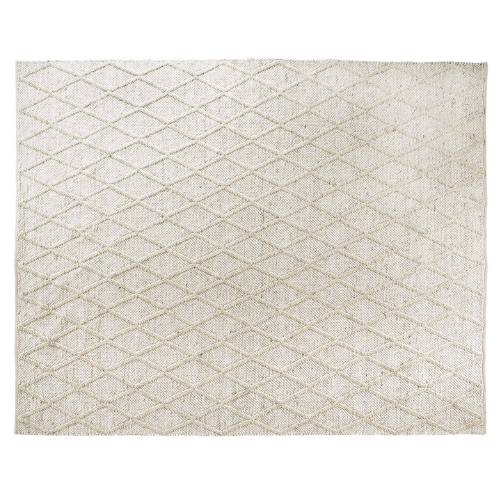 Diamond Trellis Hand Woven Viscose Cream Wool Rug 240 x 300cm by Early Settler, a Contemporary Rugs for sale on Style Sourcebook