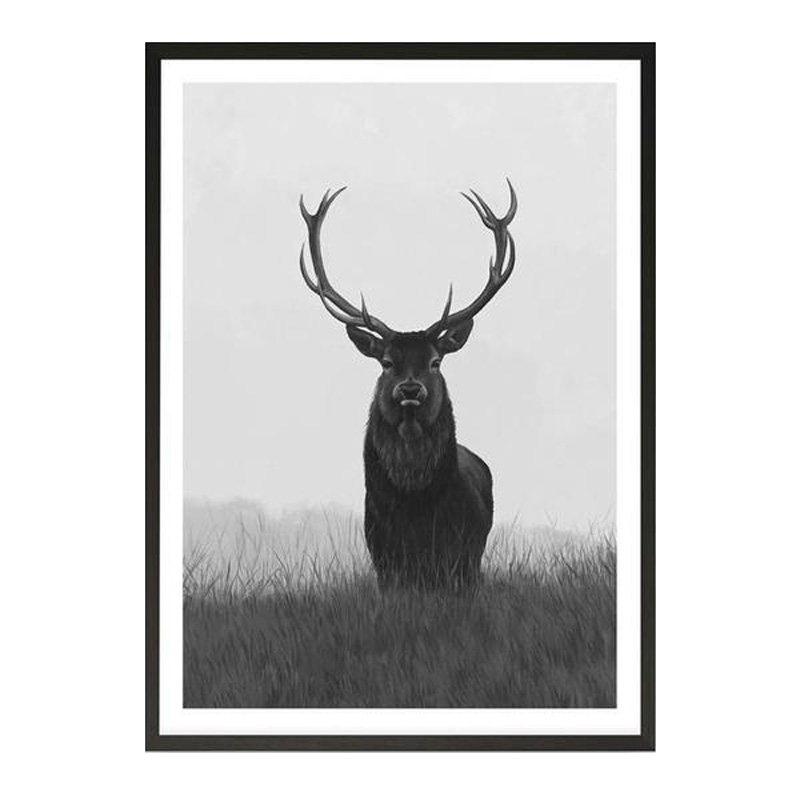 Black & White Elk Art Print by The Print Emporium, a Prints for sale on Style Sourcebook