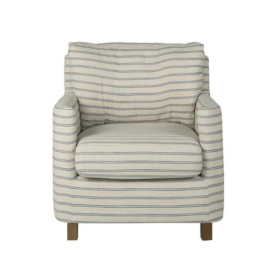 Augusta Armchair Coast Stripe by Mayvyn Interiors, a Chairs for sale on Style Sourcebook