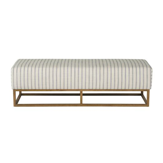 Hunter Ottoman Coast Stripe by Mayvyn Interiors, a Ottomans for sale on Style Sourcebook