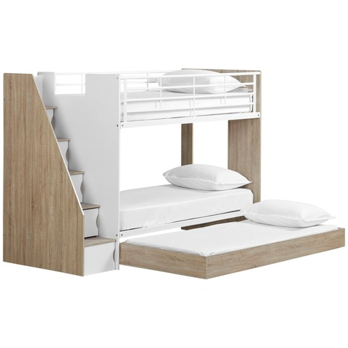 Cruz Trio Single Bunk Bed & Cabinets by Temple & Webster, a Kids Beds & Bunks for sale on Style Sourcebook