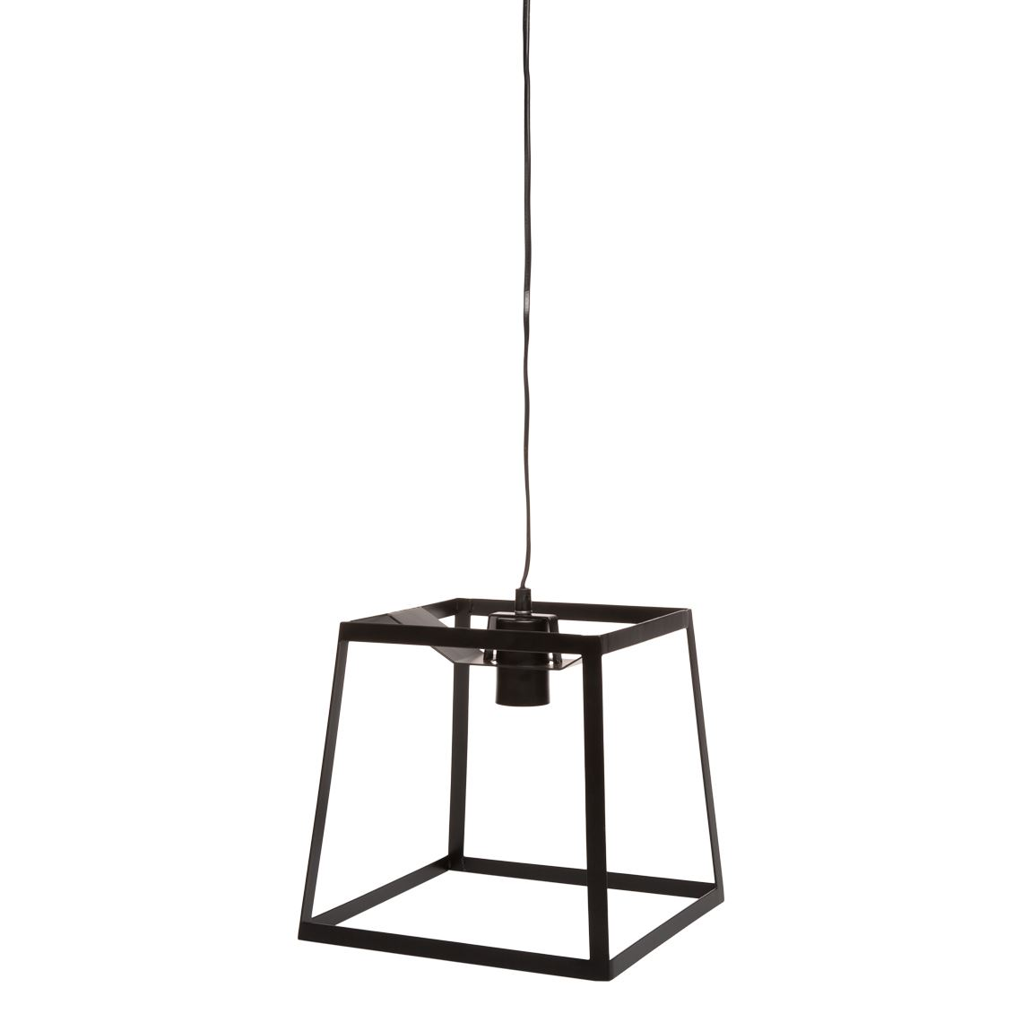 Cherokee 60W E27 Ceiling Pendant Light Size W 25cm x D 25cm x H 120cm in Black Metal Freedom by Freedom, a Pendant Lighting for sale on Style Sourcebook