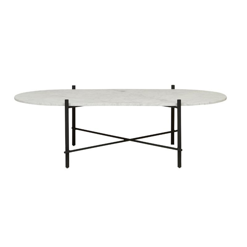 Elle Pipe Oval Marble Coffee Table - Matte White Marble, Black Base by Urban Rhythm, a Coffee Table for sale on Style Sourcebook