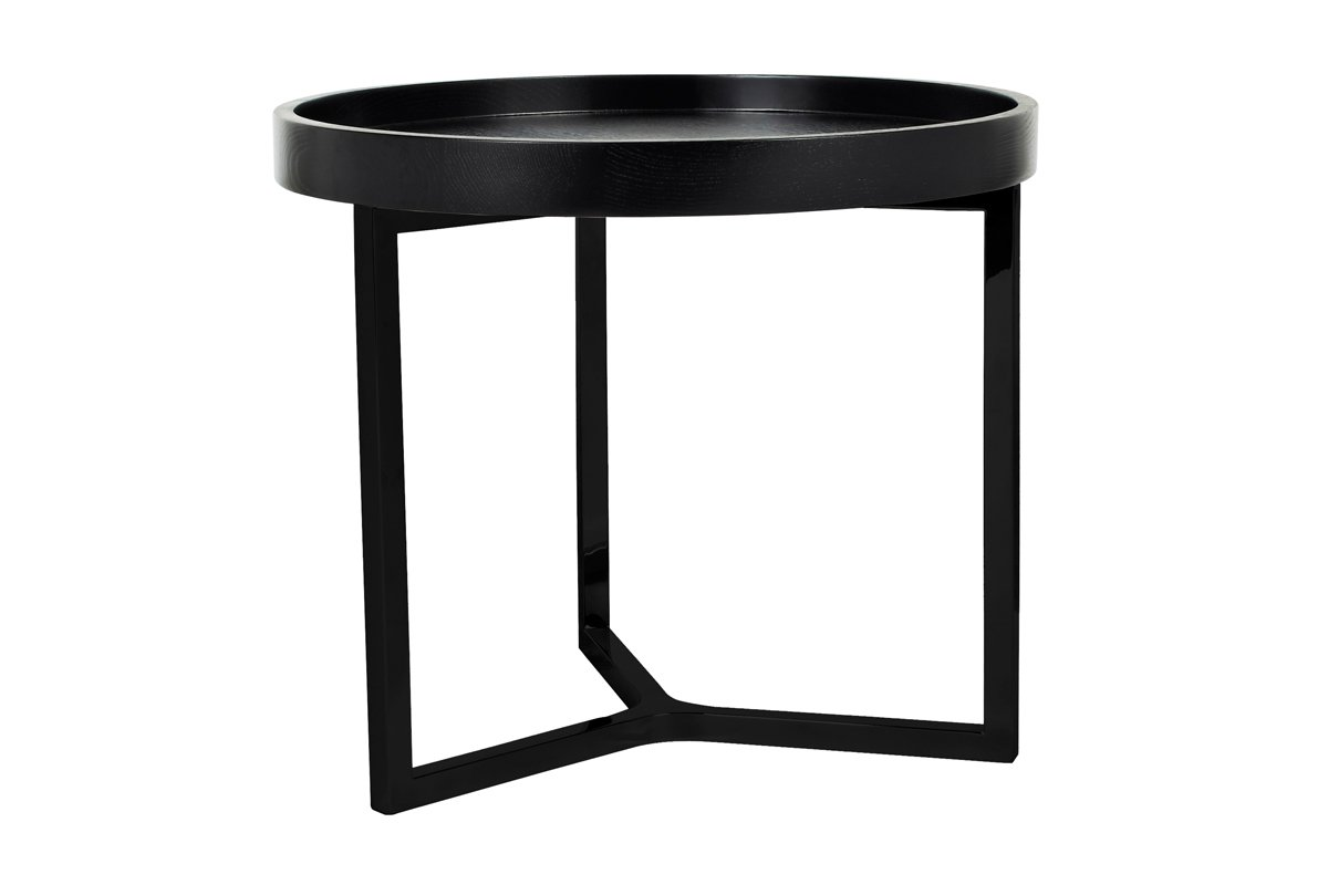 Tivoli Round Side Table - Black by Urban Rhythm, a Side Table for sale on Style Sourcebook