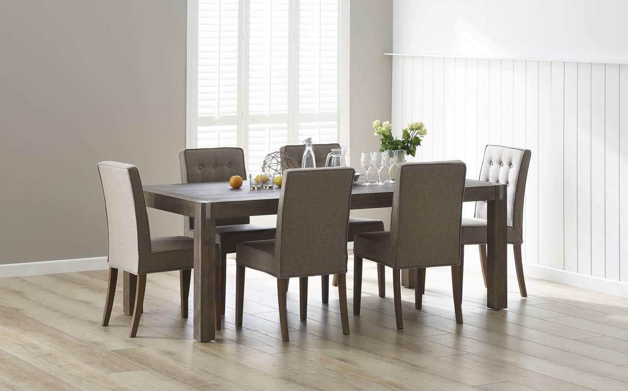 7pce Boulevard dining suite with Piper chairs by Focus On Furniture, a Dining Sets for sale on Style Sourcebook