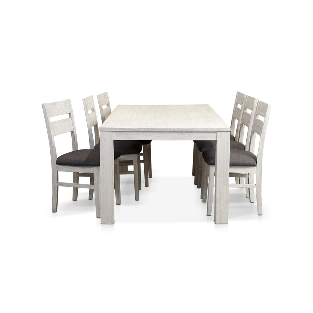 Florida Brushed White 7PCE 2100L Dining Suite by James Lane, a Dining Sets for sale on Style Sourcebook