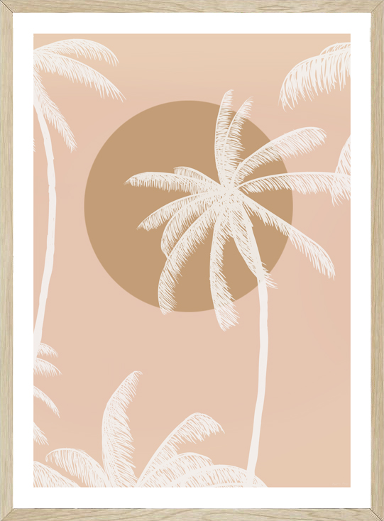 SUNSET PALM BLUSH BY SEASCAPE LIVING by Seascape Living, a Original Artwork for sale on Style Sourcebook