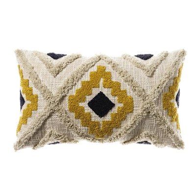 Home Republic Mexica Cushion 30x50cm Mustard/Navy - Mustardnavy By Adairs by Home Republic, a Cushions, Decorative Pillows for sale on Style Sourcebook