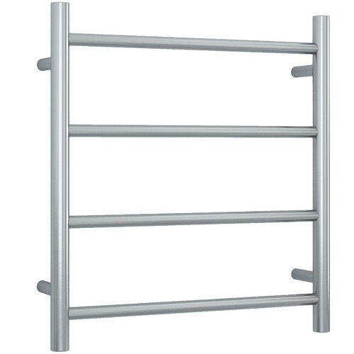Straight 4 Bar Heated Stainless Steel Towel Rail Finish: Brushed Stainless Steel by Temple & Webster, a Towel Rails for sale on Style Sourcebook