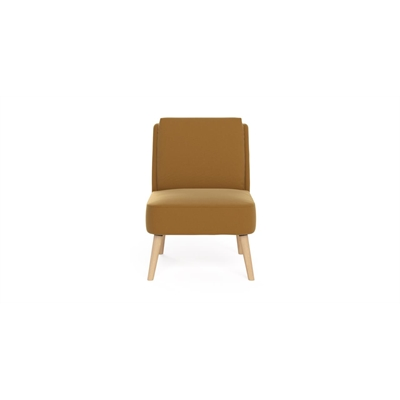 Eve Accent Chair Mustard Yellow by Brosa, a Chairs for sale on Style Sourcebook