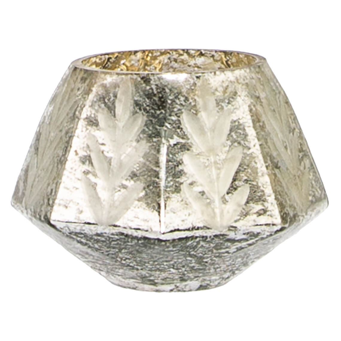 Mercury Candle Holder Colour Size W 12cm x D 12cm x H 9cm in Silver Glass Freedom by Freedom, a Plants for sale on Style Sourcebook