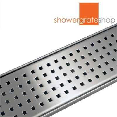 Geo Top Shower Grate - Custom Sizes - 316 Stainless Steel by null, a Shower Grates & Drains for sale on Style Sourcebook