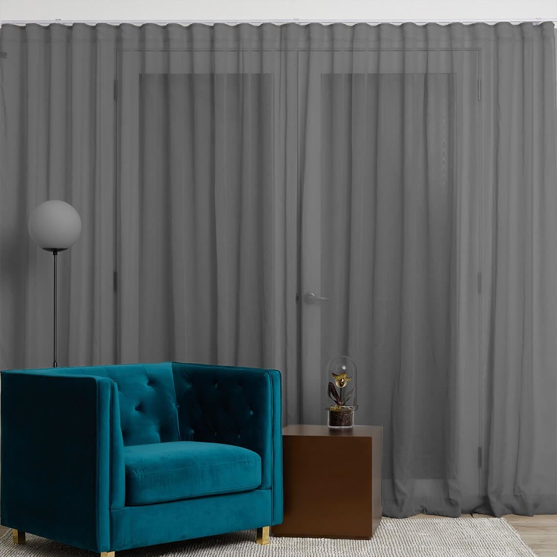 Mineral S-Fold Curtain Size W 315cm x D 1cm x H 280cm in Granite 100% Polyester Freedom by Freedom, a Curtains for sale on Style Sourcebook