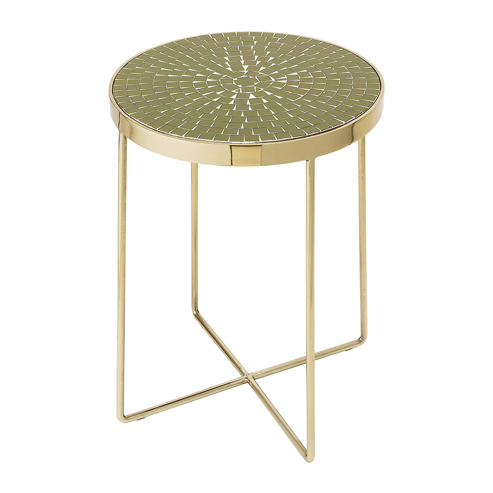 Bloomingville - Glass Round Side Table - Green by Bloomingville, a Side Table for sale on Style Sourcebook