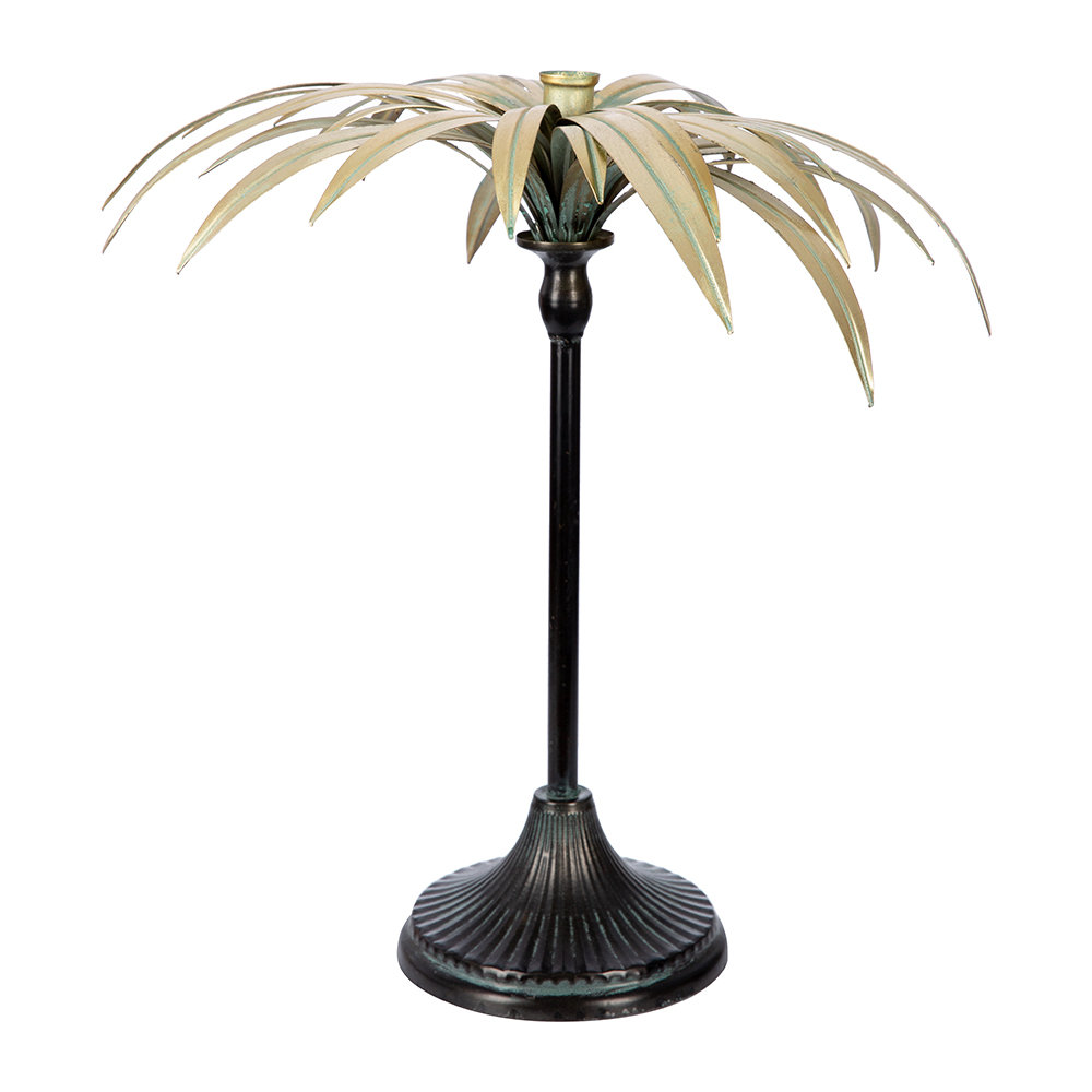 A by AMARA - Palm Tree Candle Holder - Gold by A by Amara, a Candles for sale on Style Sourcebook