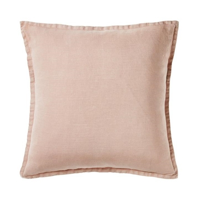 Home Republic Belgian Vintage Washed Linen Cushion Nude Pink 50x50cm - Nudepink By Adairs by Home Republic, a Cushions, Decorative Pillows for sale on Style Sourcebook