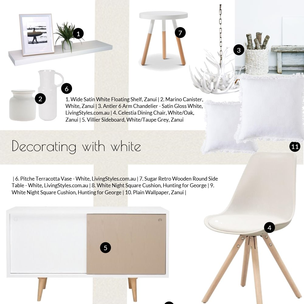 White Decor Mood Board by Jo Taylor on Style Sourcebook