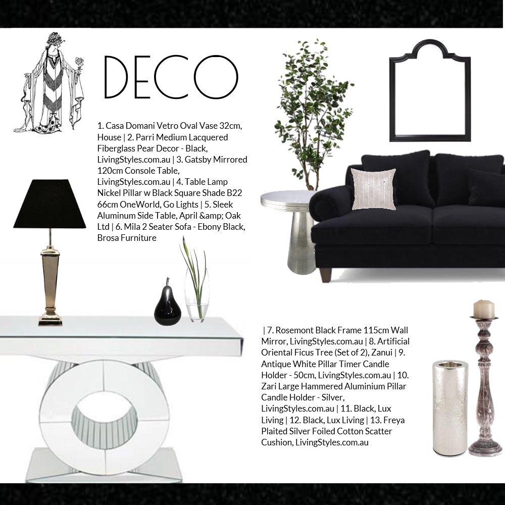 Art Deco Mood Board by Jo Taylor on Style Sourcebook
