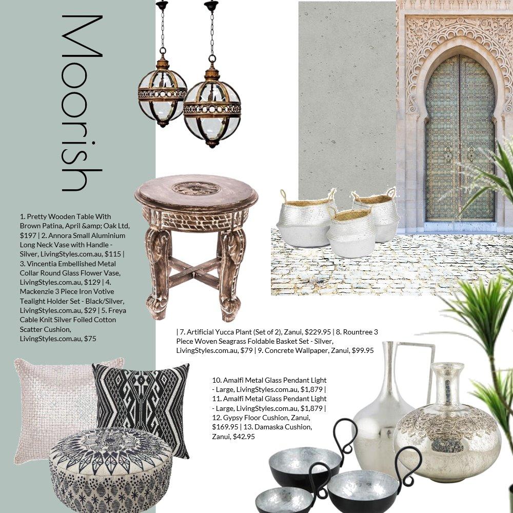 Moorish Mood Board by Jo Taylor on Style Sourcebook