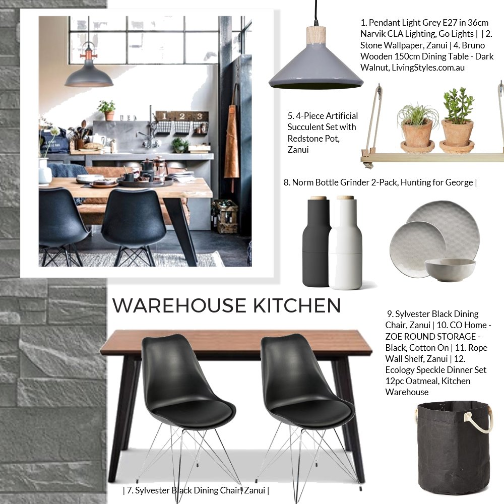 Warehouse kitchen Mood Board by Jo Taylor on Style Sourcebook