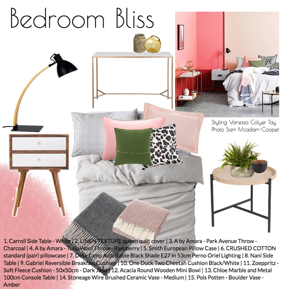 Bedroom Bliss Mood Board by k_b on Style Sourcebook