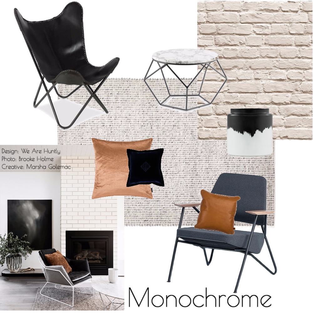 Monochrome Mood Board by k_b on Style Sourcebook
