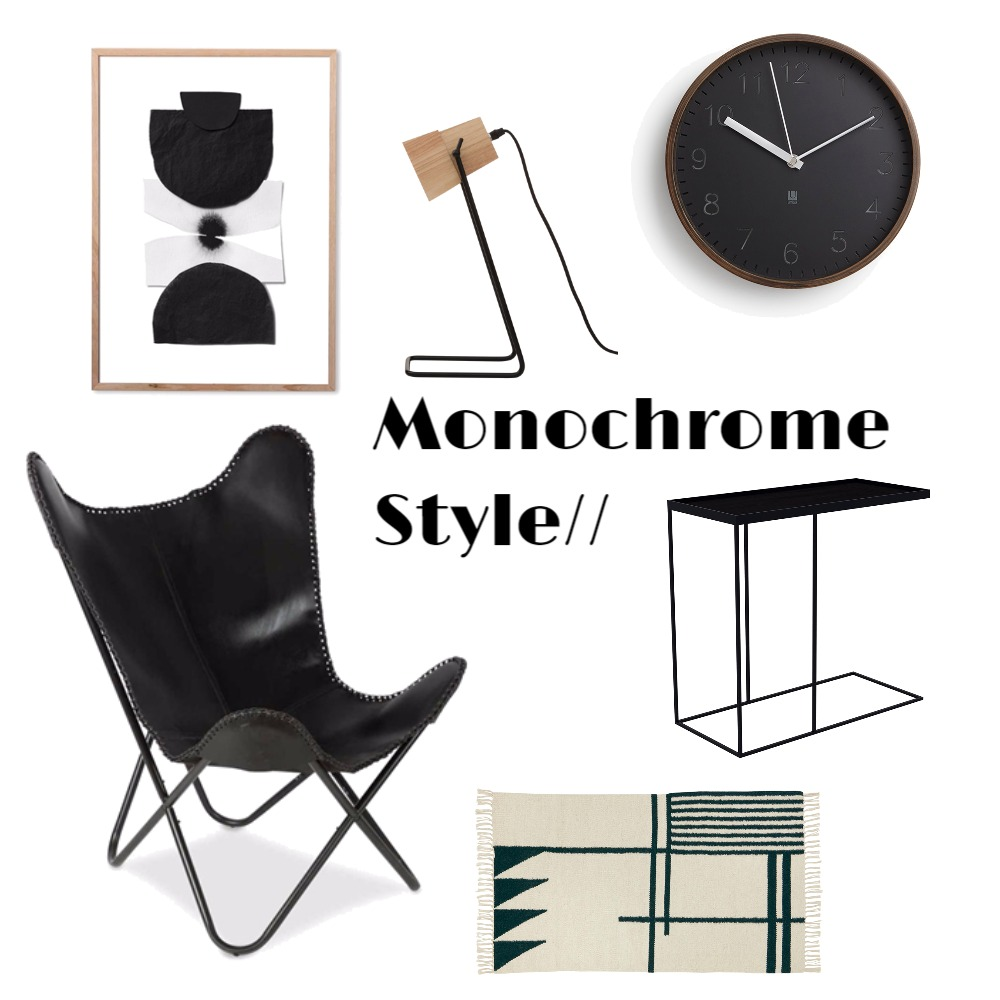 Monochrome Style Mood Board by Katy Thomas Studio on Style Sourcebook