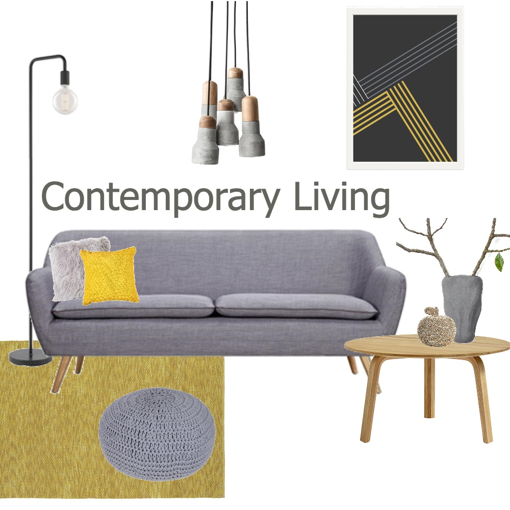 Contemporary Living Mood Board by Makers Ink on Style Sourcebook