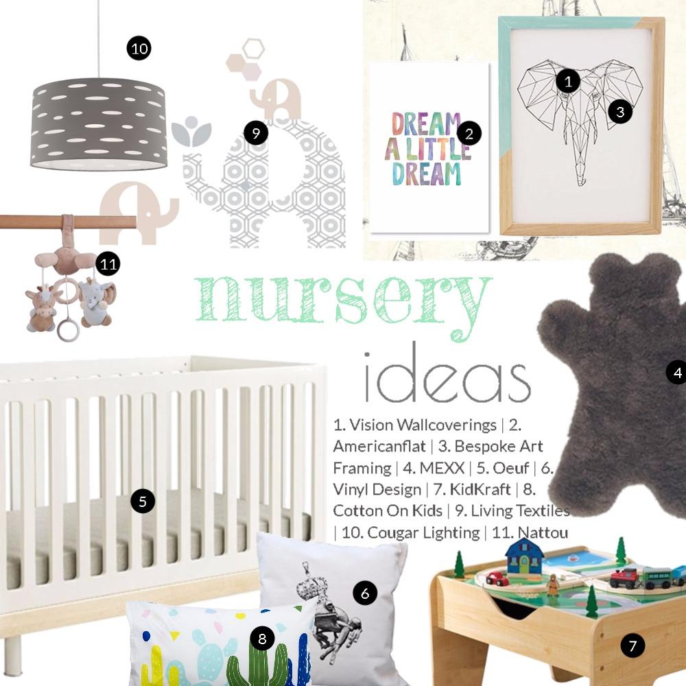 Nursery ideas Mood Board by Dian Lado on Style Sourcebook