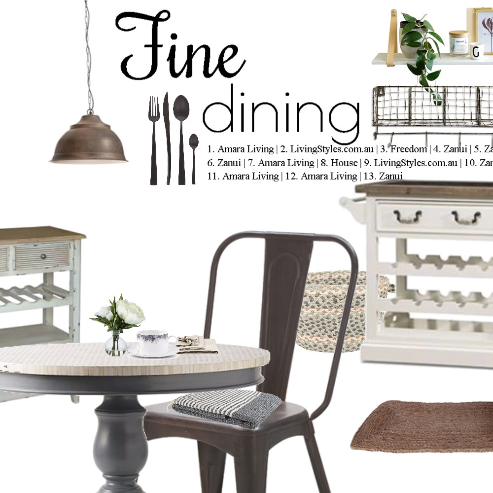 Fine dining Interior Design Mood Board by Dian Lado on Style Sourcebook