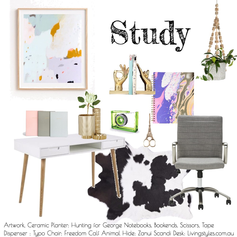 Study Mood Board by Interior Designstein on Style Sourcebook