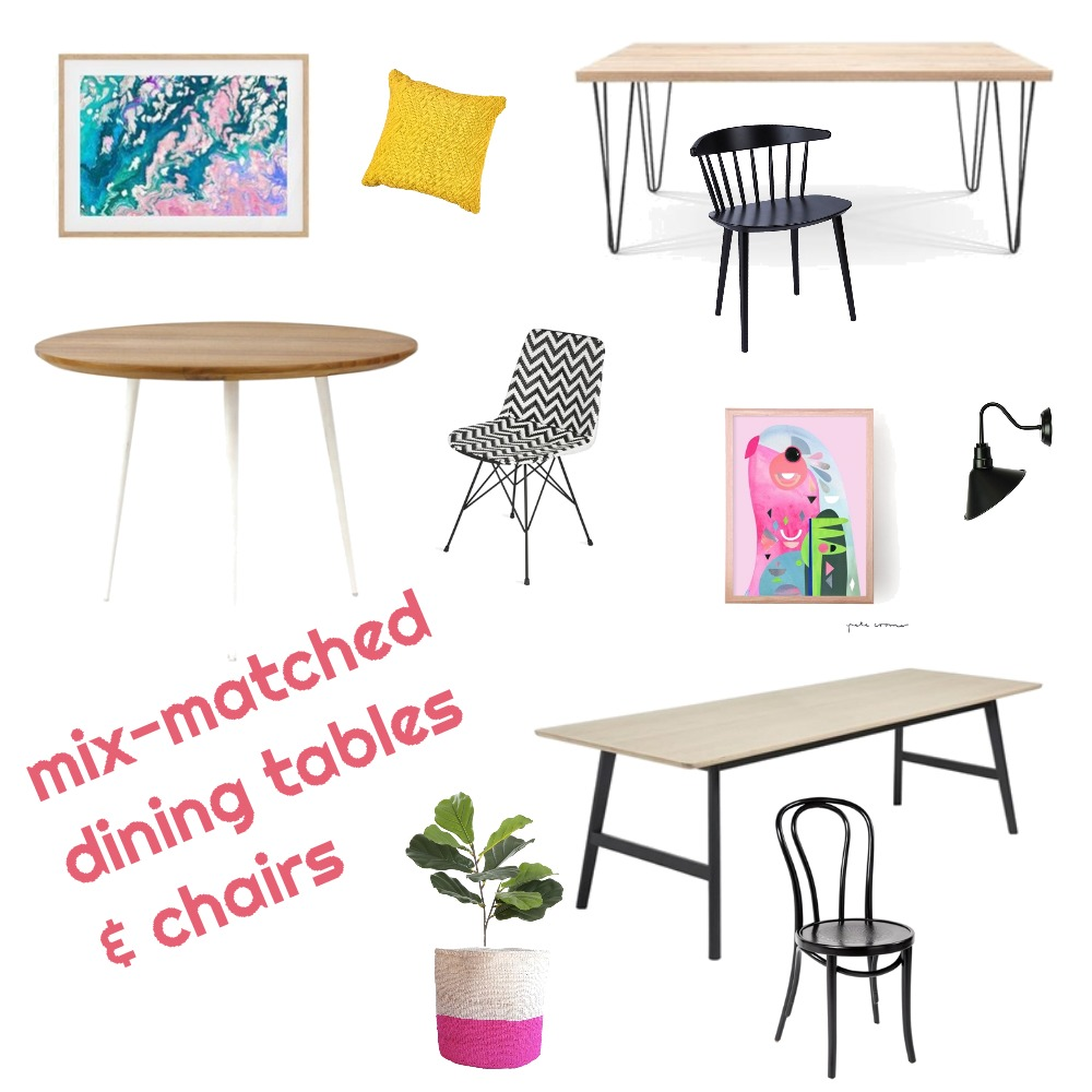 mix-match dining table & chairs Mood Board by akelacollections on Style Sourcebook