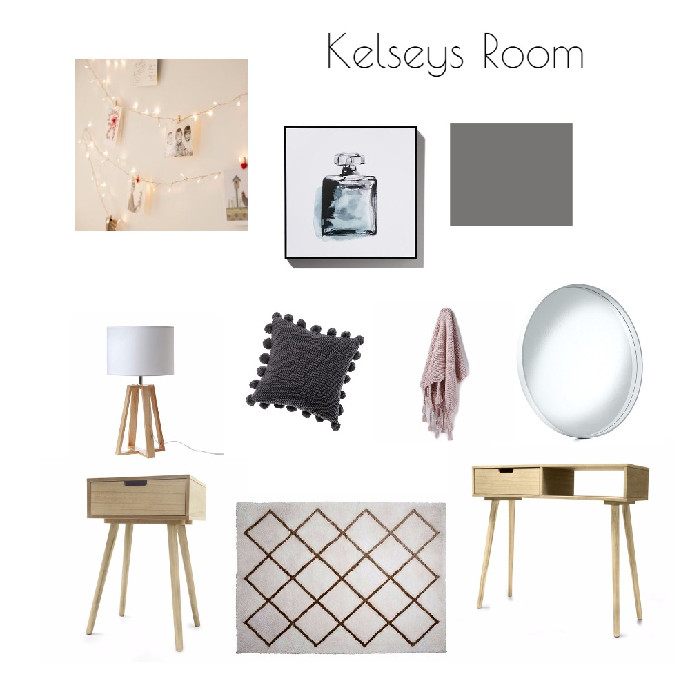 Kelsey's Bedroom Mood Board by Jo Daly Interiors on Style Sourcebook