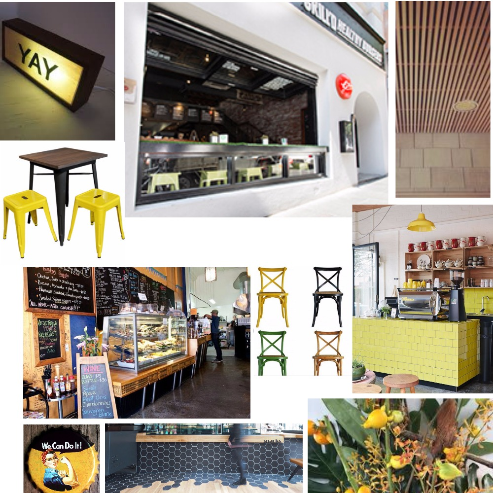 Cafe Mood Board Mood Board by sarahlane on Style Sourcebook
