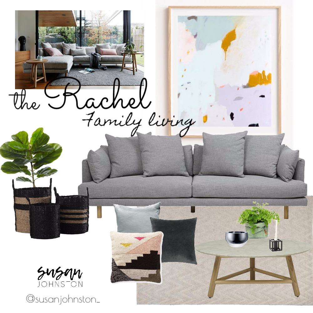 Family Living Mood Board by Susan Johnston on Style Sourcebook