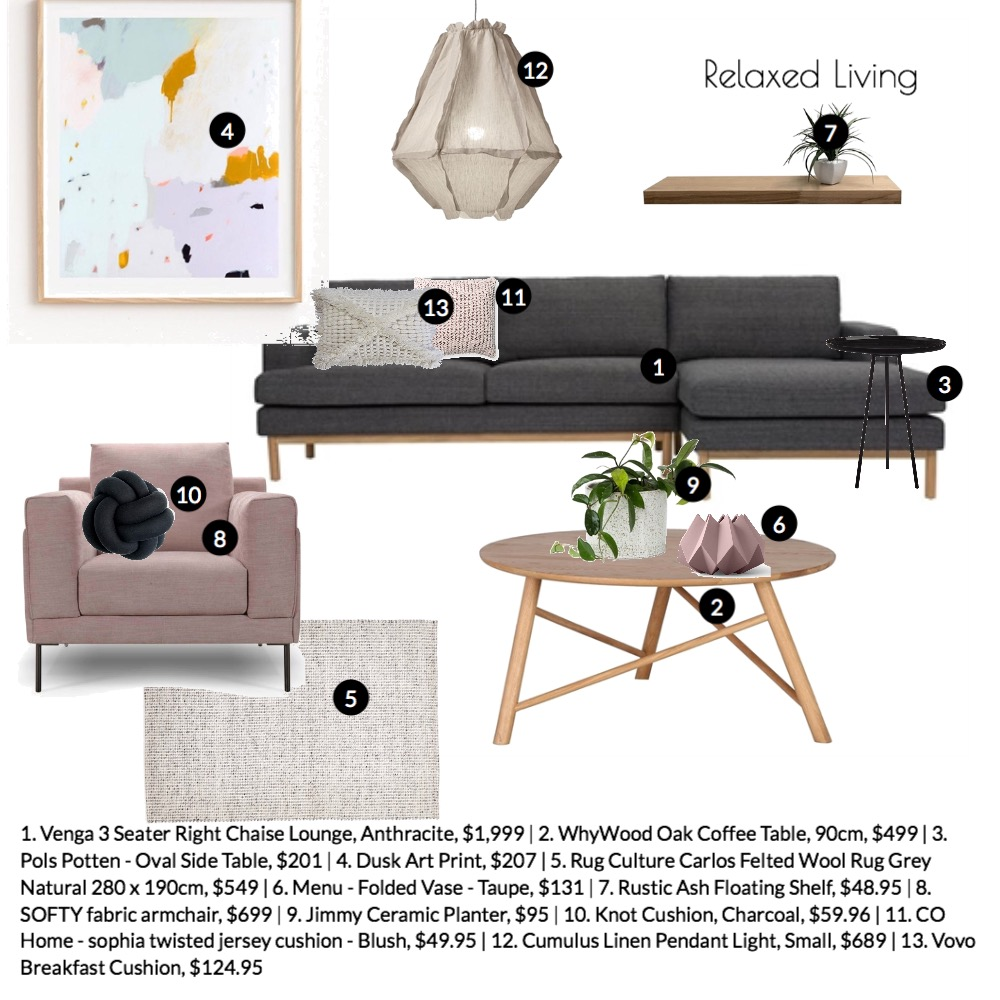 Relaxed Living Mood Board by offtheshelf_ on Style Sourcebook