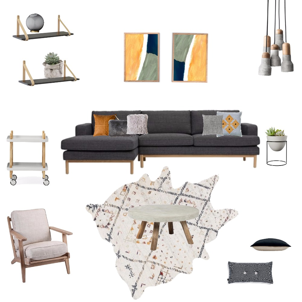 Textural Living Room Mood Board by jakandcodesign on Style Sourcebook