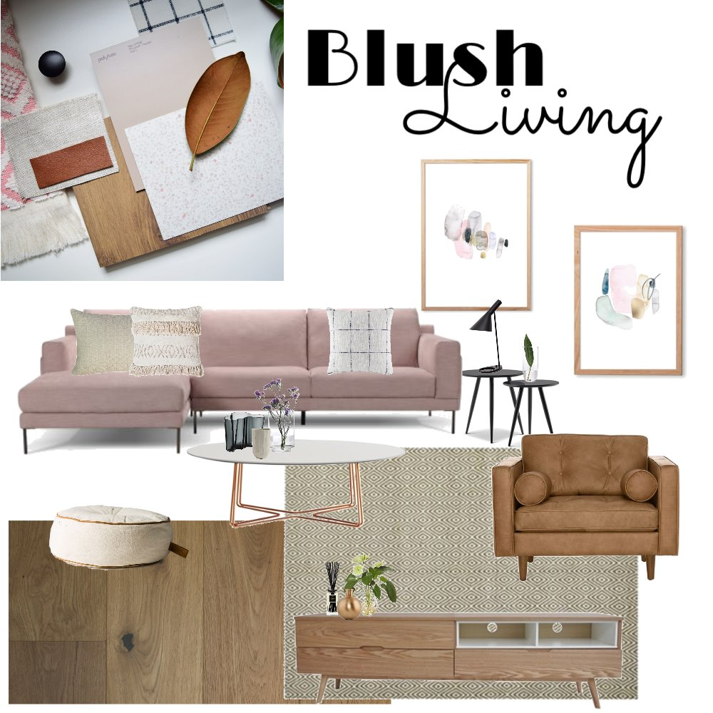 Blush Living Mood Board by Hookedoninteriors on Style Sourcebook