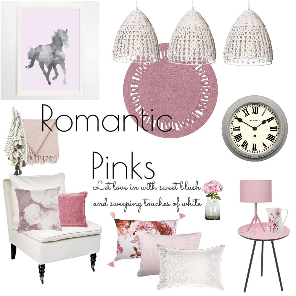 Romantic Pinks Mood Board by fleurandfriend on Style Sourcebook