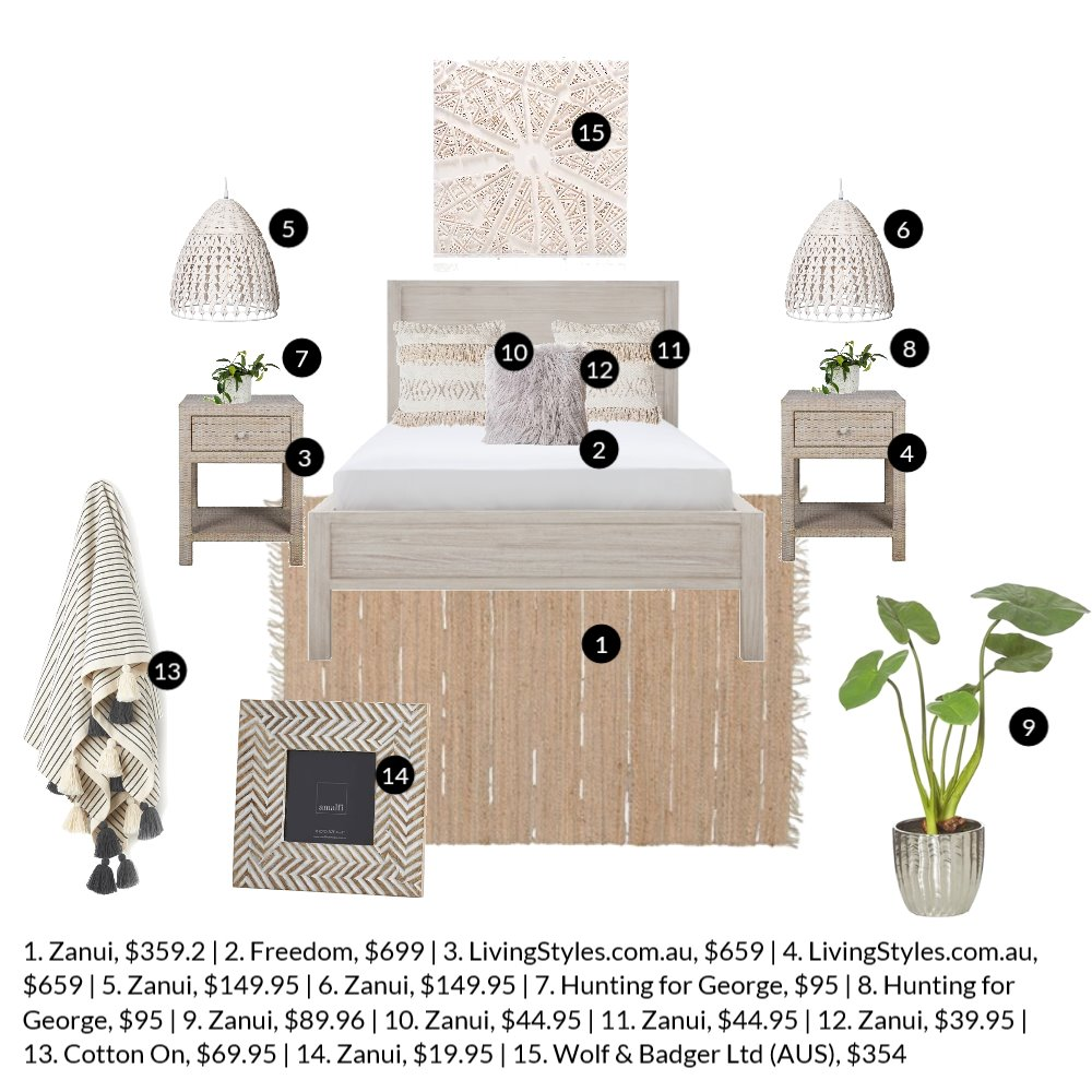 Bedroom Prices Mood Board by aprilbuttsworth on Style Sourcebook