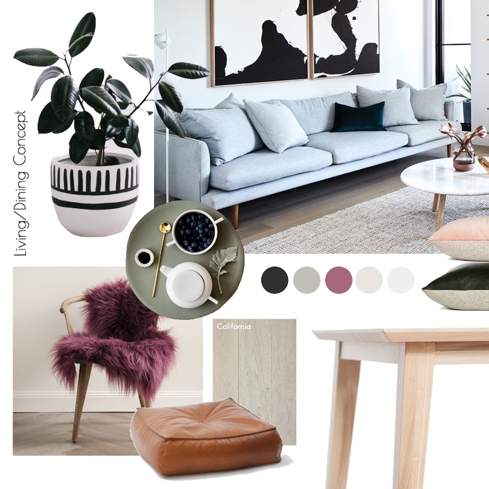 Living/Dining Room  Concept Mood Board by hollymiskimmin on Style Sourcebook