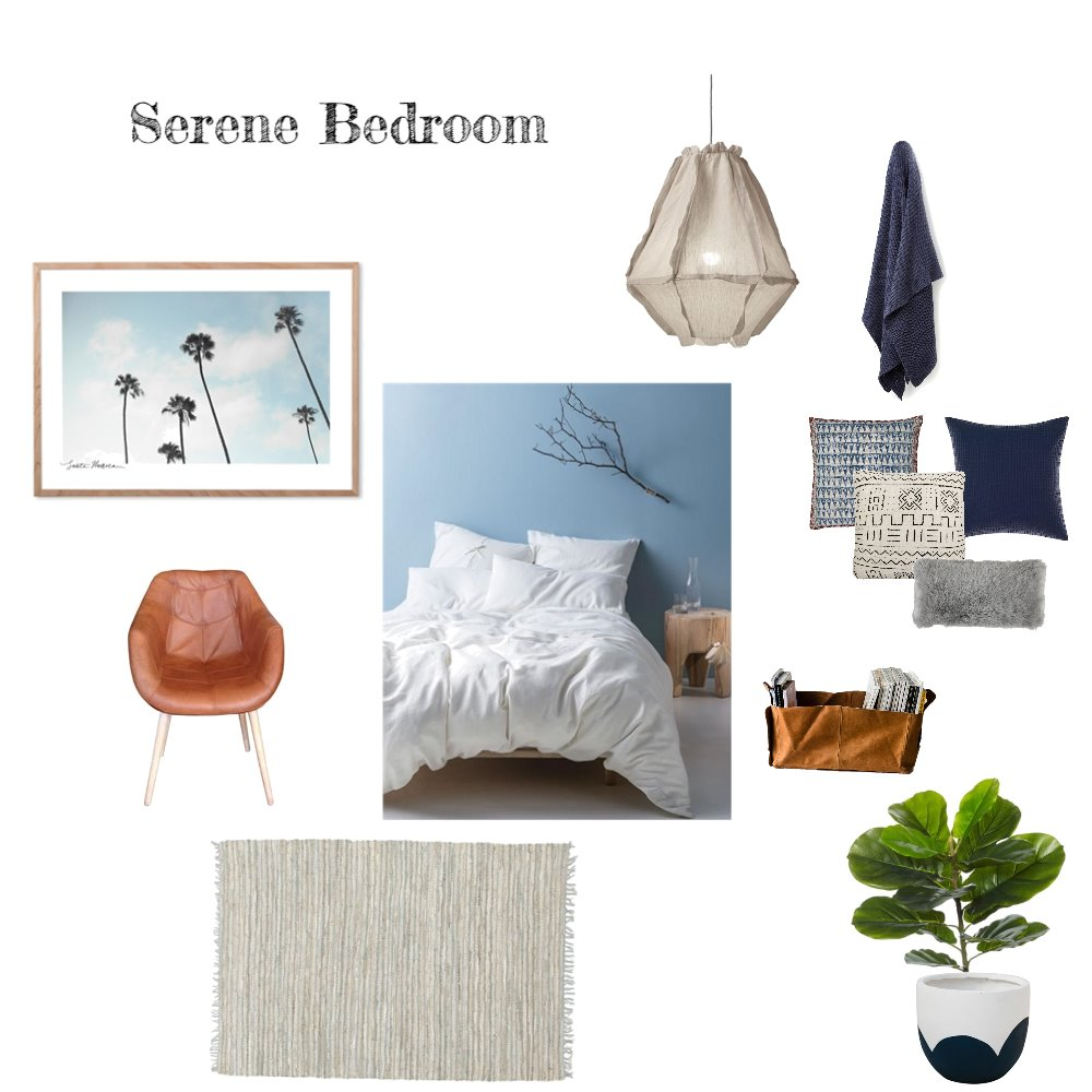 Serene Bedroom Mood Board by Bask Interiors on Style Sourcebook