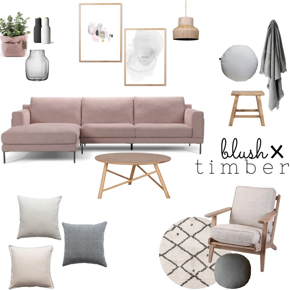 Blush x Timber Mood Board by OurLittleHome on Style Sourcebook